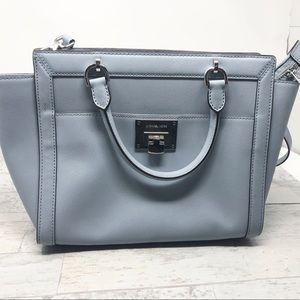 Michael Kors Tina Saffiano Large Leather Satchel